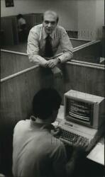 1983 Press Photo Peter Leider-president Of Electronic Study Hall Incorporated