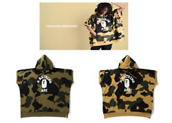 A Bathing Ape Mens 1st Camo College Poncho Pullover Hoodie New Free Shipping