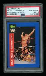 Ultimate Warrior Psa/dna Slabbed 1991 Classic Wwf 36 Signed Auto Card