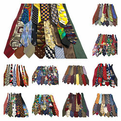 Lot 197 Traditional Novelty Animals Sports Looney Tunes Neckties Ties For Crafts