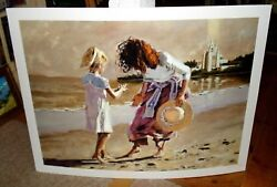 Aldo Luongo Color Giclee A Day At The Beach Signed Dealers Proof Hc 1/7