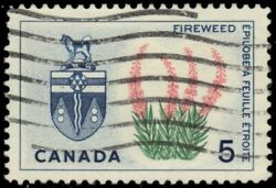 Canada 428 - Yukon Arms And Fireweed Dull Paper Pb29236