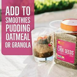 Betterbody Foods Organic Chia Seeds With Omega-3 Non-gmo 2 Pound