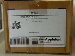 Lot Of 10 Appleton Rss-1 Mall Iron Rs Box Rs Junction Boxes Type Rss Malleable