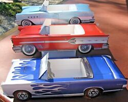 9 Assorted Classic Cardboard Cars Kids Food Box Party Planner Table Center B
