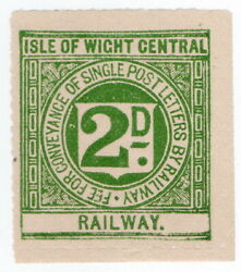 I.b Isle Of Wight Central Railway Letter Stamp 2d
