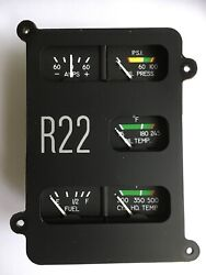 Helicopter Robinson R22 Instrument Cluster Assy B144-3 Fueloil Temp/press Gauge