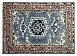 New Antique Looking Gray And Rust Color 9x12 Handmade Rug-1381