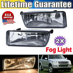 Fog Light For 06-10 Ford Explorer Sport Trac Clear Lens Bumper Replacement Lamp