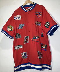 90and039s Nba Vintage Eastern/western Conference 29 Team Warm-up Jersey Size 2xl Rare