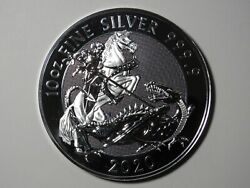 2020 Great Britain £10 Valiant - 10 Oz 9999 Silver - St George And The Dragon
