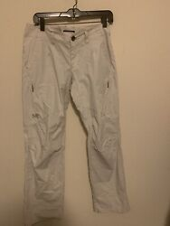 Arcteryx Womens Pants Sz 6 Relaxed Fit Coupe Ample Beige Casual Linen Pants