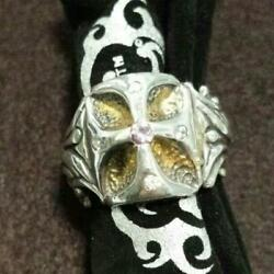 Bill Wall Leather Gothic Cross Ring