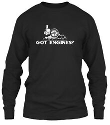 Got Engines Hit And Miss Gas Engines Classic Long Sleeve T-shirt - 100 Cotton