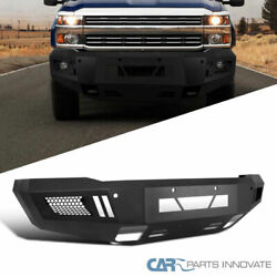 For Chevy 15-19 Silverado 2500 3500 Pickup Black Front Bumper Guard Replacement