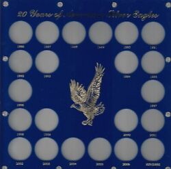 Capital Holder - 20 Years Of American Silver Eagles - 12x12 - Blue