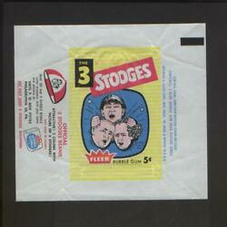 1959 Fleer The 3 Three Stooges Gum Card Wax Wrapper 5 Cents Nice