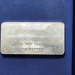 1981 National Canada Refiners-assayers Landscape Variety 10 Ounce Silver Bar