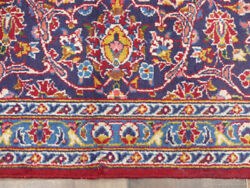 8and0396x12and039 Fine Antique Kashann Oriental Authentic Handmade Wool Area Rug Carpet