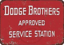 Wall Decor Sign Dodge Brothers Cars Approved Service Station Aluminum Metal Sign