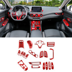 For Nissan Sentra Sylphy 2020-2022 Red Style Car Interior Decor Full Set Cover
