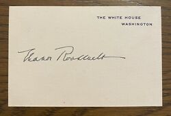 Eleanor Roosevelt White House Card Signed As First Lady - Fdr - President