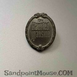Rare Pewter Disney Haunted Mansion Movie Plaque Open House Pin Un23826