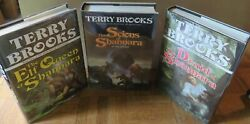TERRY BROOKS 3 FIRST EDITION SHANNARA TITLES All in Dust Jacket