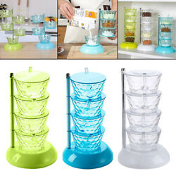 Clear Spices Boxes With Handle Spoon Spice Container Kitchen Sugar Cruet