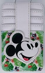 Disney Parks WDW Mickey Mouse Tropical Summer RFID Clutch Slim Wallet Cards NEW $14.99