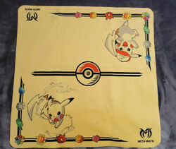 Pokemon Metamats Limited Edition Pikachu Cloth Playmat Ash Hat And Without Hat