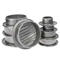 Stainless Steel Exterior Wall Air Vent Grille Round Ducting Ventilation Grilr_ju