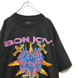 Things At The Time 90s Made In Usa Bon Jovi World Tour Band T-shirt L