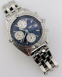 Breitling 1884 Chronomat Automatic Chronograph Blue Dial Steel 39mm A13352