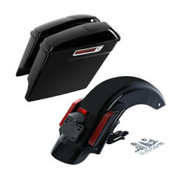 Stretched Saddlebags 6x9 Speaker Lid And Rear Fender Fit For Harley Touring 14-21