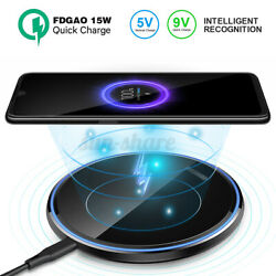 15w Qi Wireless Fast Charger Charging Pad Dock For 11 Pro Max/note10+/zte T85