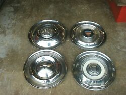 4 Vintage 1960and039s Amc And Unidentified Mystery Rambler Hubcap 14 Wheel Cover Lot