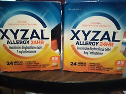 2x Xzal Allergy 24 Hour 55ct 5mg Tablets - Ships Fast Ships Free The Same Day