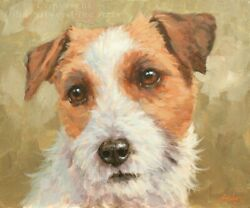 Jack Russell Terrier Dog Original Painting 10 X 12 Inch By Uk Artist John Silver
