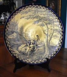 Rare And Important Gino Cenedese Murano Charger Giancarlo Begotti Hand Decorated