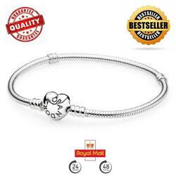 New Genuine Silver Pandora Moments Heart Clasp Charm Bracelet 590719 Rrp Andpound55