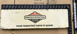 Collectible Briggs And Stratton Advertising Metal 6.25 X 22 Inch Sign Dbl Sided