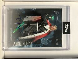 Tyson Fury Signed Card 28/75 Topps Clean Signature Placement