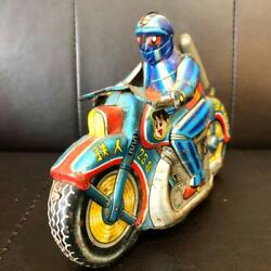 Super Rare One-point Thing Tetsujin 28 Tinplate Motorcycle Retro Toys