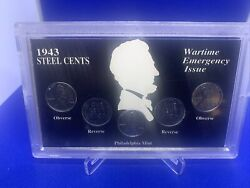 American Legacy Wartime Coin Collection 1943 Steel Penny Set