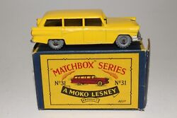 Matchbox Lesney 31a Ford Station Wagon Metal Wheels Excellent Boxed Type B