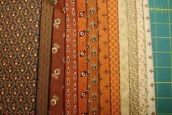 12 Cheddar And Chocolate Quilt Fabric Fat Quarters 18x22 By Marcus Fabrics