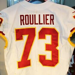 Chase Roullier Washington Football Team Game Used 73 White Jersey Vs Tampa Bay