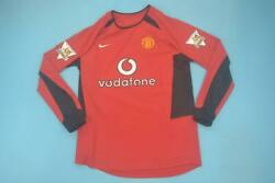 Vintage Replica Manchester United 02-04 Home Long Sleeve