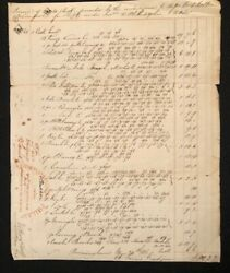 1836 Invoice Tryon And Merrick Liverpool Jewelry To U.s.